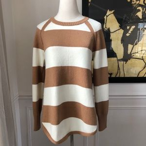 Adrianna Papell Stripe Tunic Sweater S